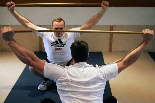 Judo Olympiasieger, Anfänger im Krafttraining mit der Langhantel
